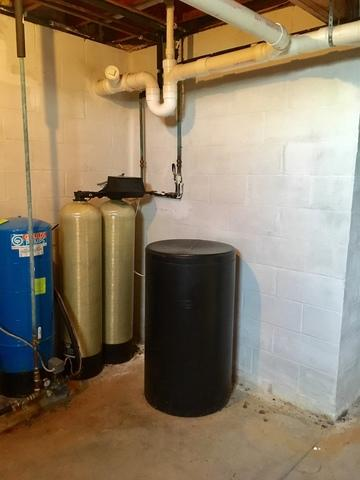 Water Treatment System in Auburn, NY - Before Photo