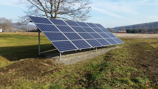 Ground-Mounted Solar Array in Cortland, NY