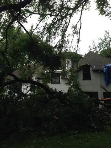Wind Damage Repair in Winnetka, IL - Before Photo