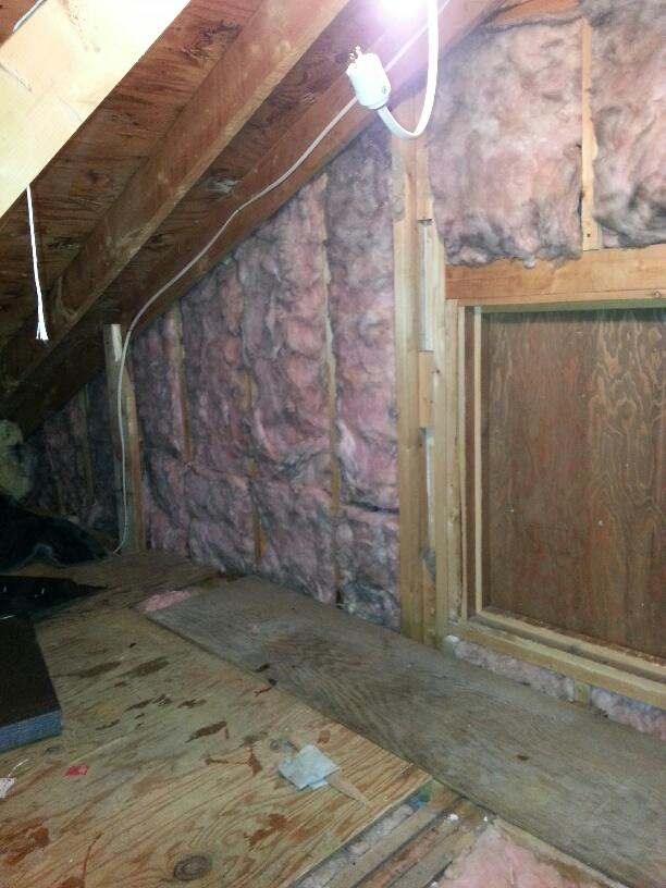 Waterville, ME - Added Efficiency and Kept Storage Space in the Attic - Before Photo
