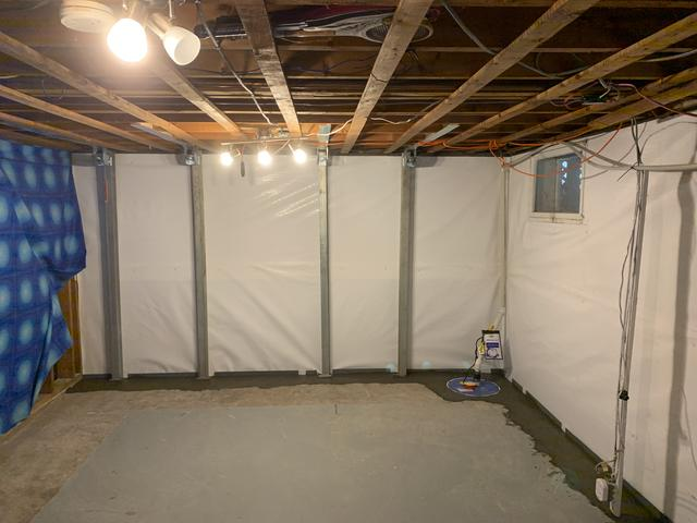 A dry, waterproofed basement in Kentville NS