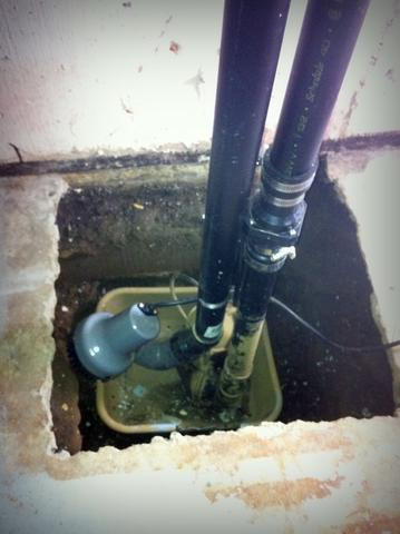 Our SuperSump is a vast improvement in Halifax, NS - Before Photo