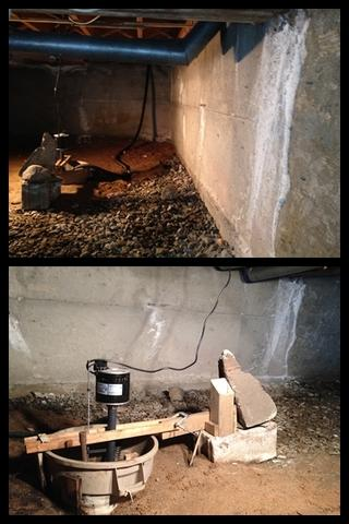 Crawl Space Encapsulation - Before Photo