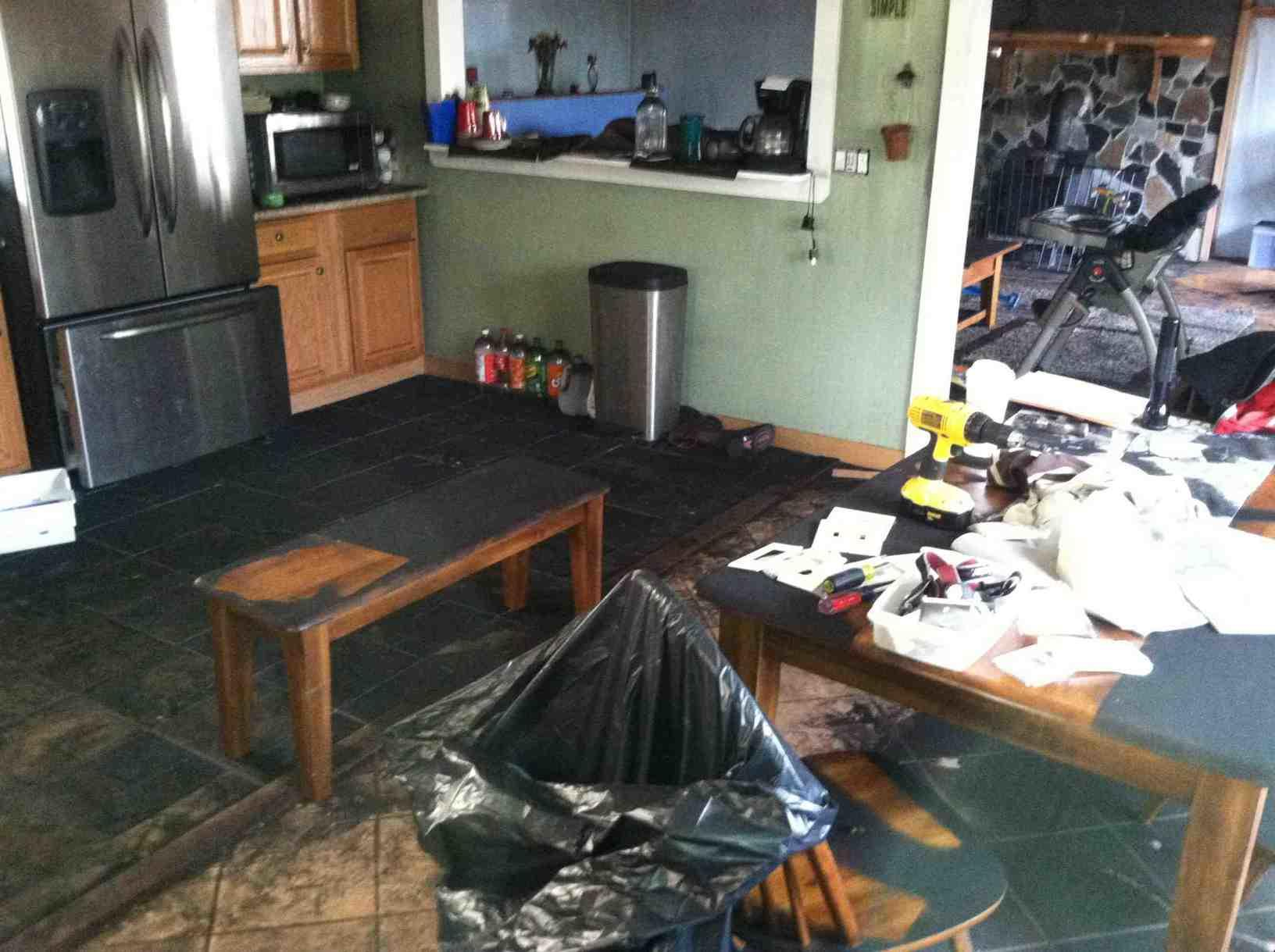 Fire Clean Up in Bozrah, CT - Before Photo