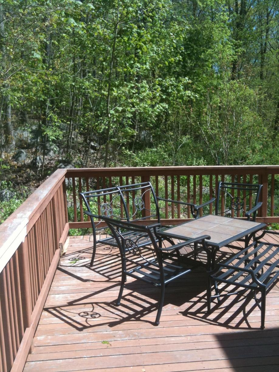 Deck Renovation and Restaining - Before Photo