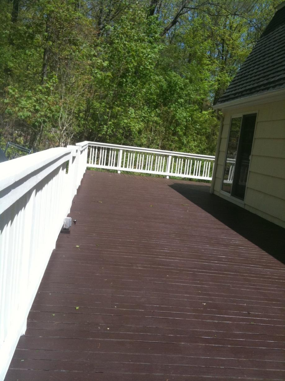 Deck Renovation and Restaining - After Photo
