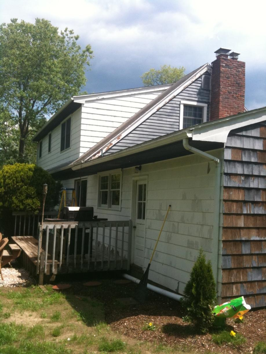 Newtown Connecticut Home with Exterior Paint Job - Before Photo