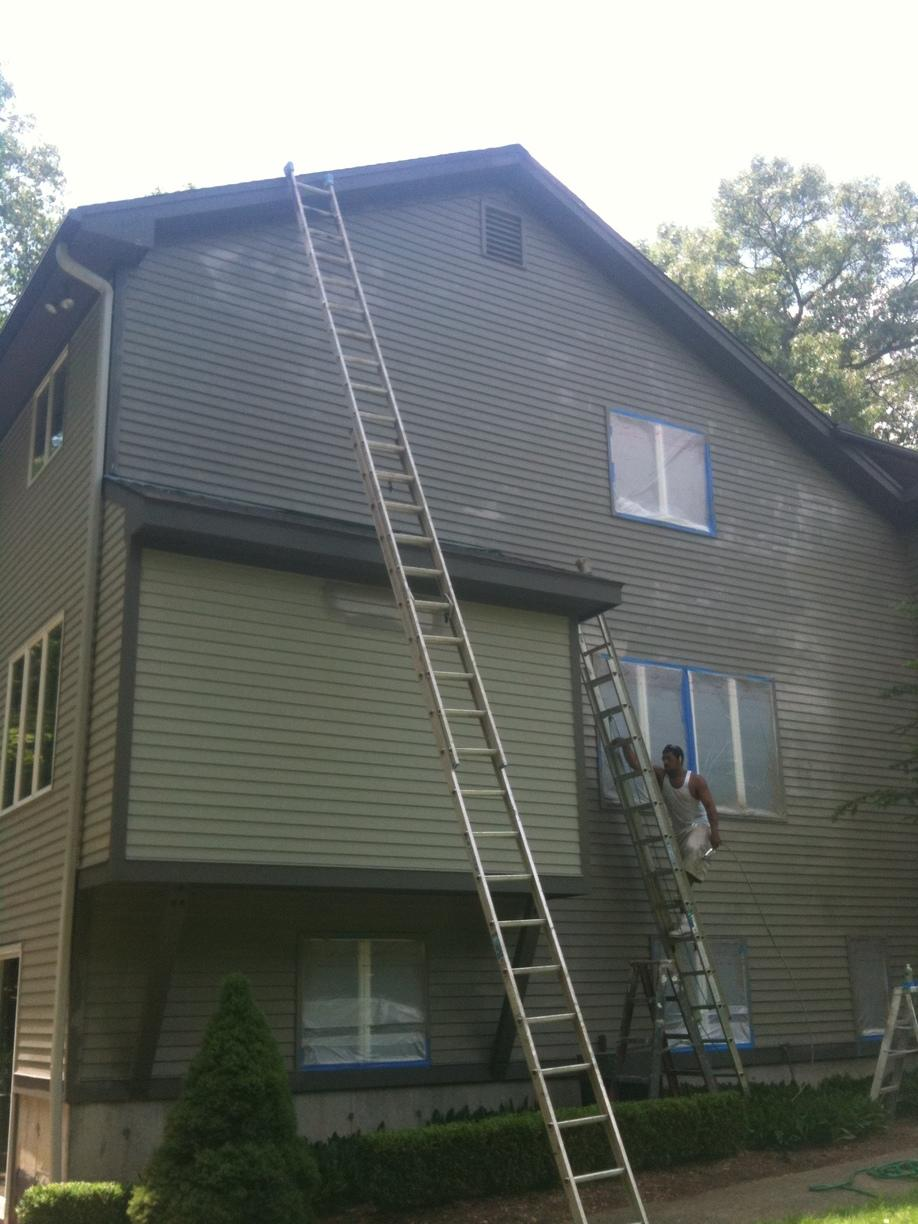 House Exterior Job in Trumbull CT - Before Photo