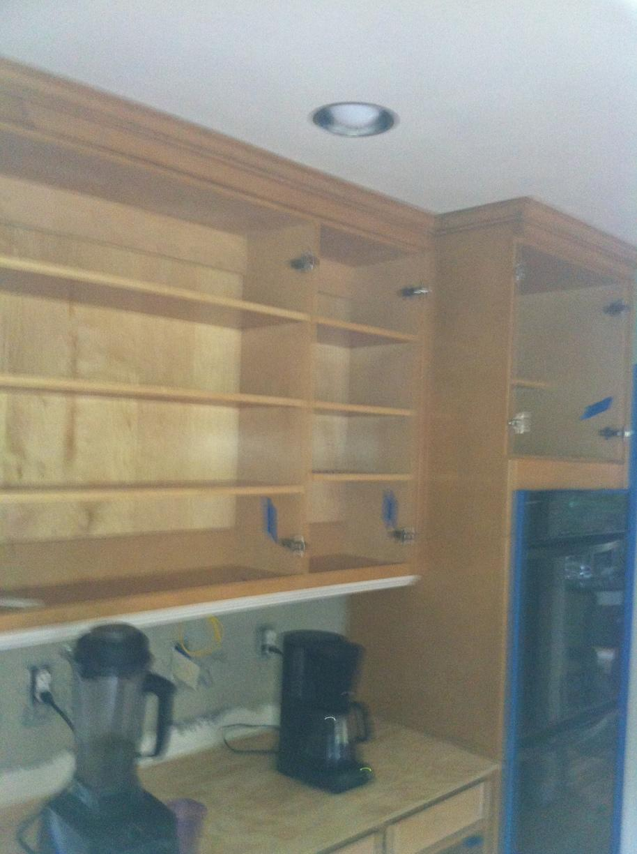 Cabinet Refacing in Monroe, CT - Before Photo