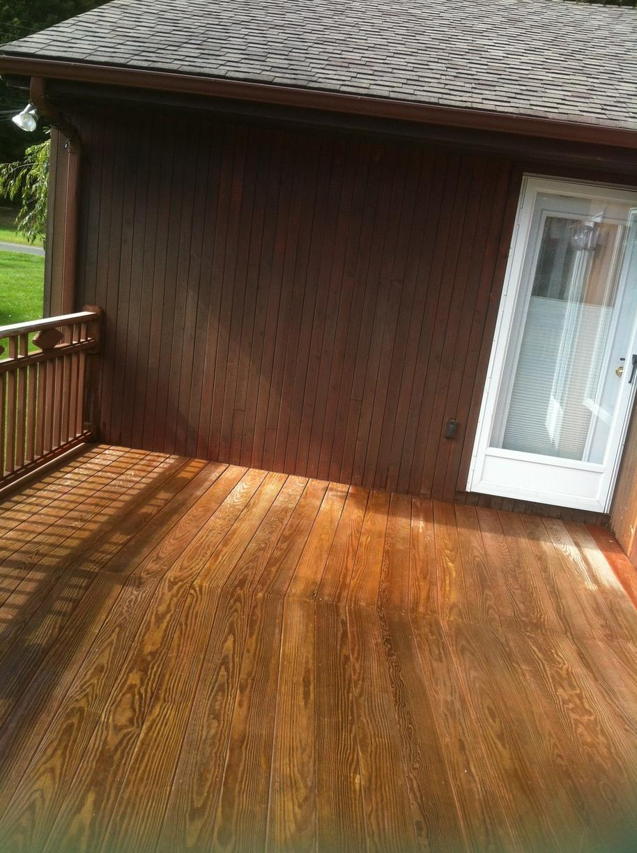 Deck Staining  - Before Photo