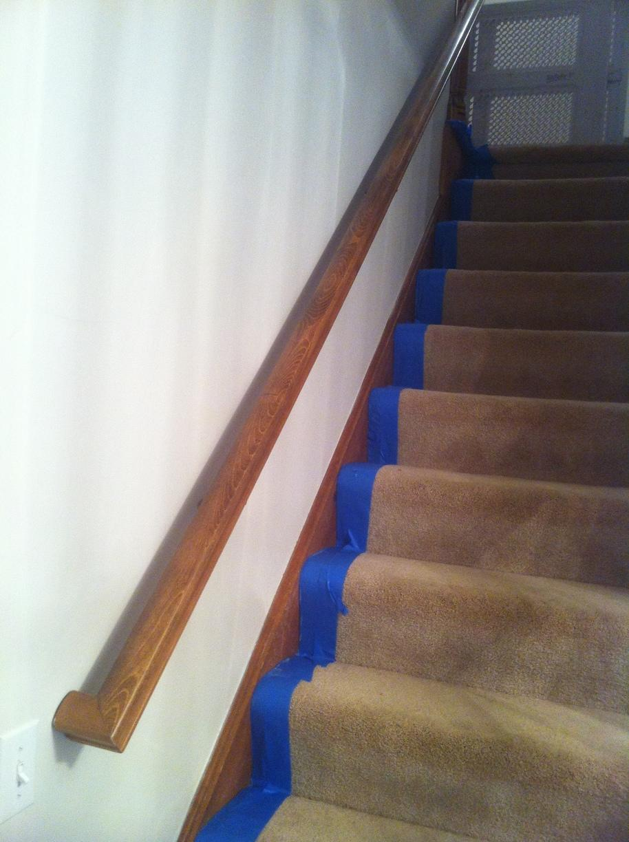 Stairs from Wood to White - Before Photo