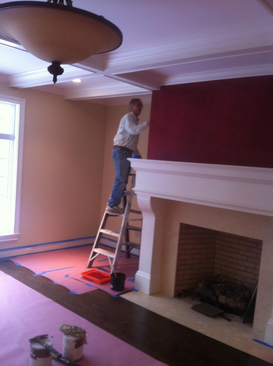 Fireplace and Accent Wall in Middletown, CT - After Photo