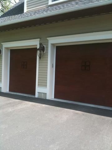 Garage Side of House with Mahogany Doors - After Photo
