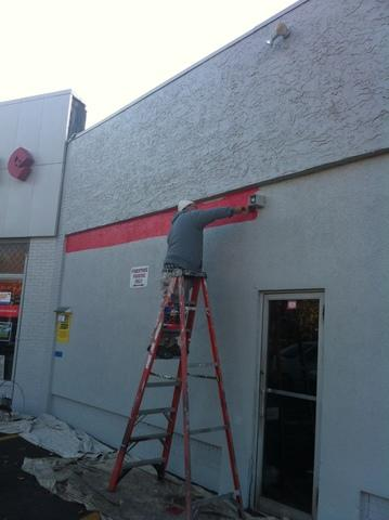 Firestone Gets a Touch Up in Danbury - Before Photo