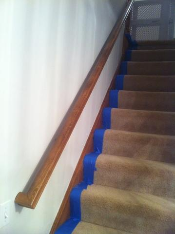 Stairs from Wood to White