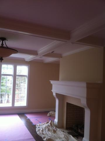Fireplace and Accent Wall in Middletown, CT - Before Photo