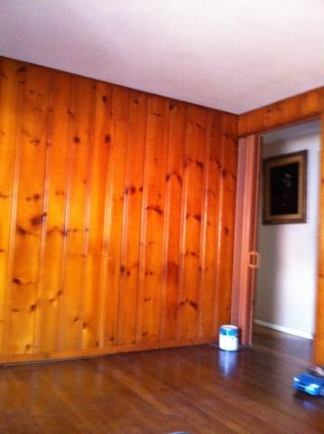Wood Panel Painting - Before Photo
