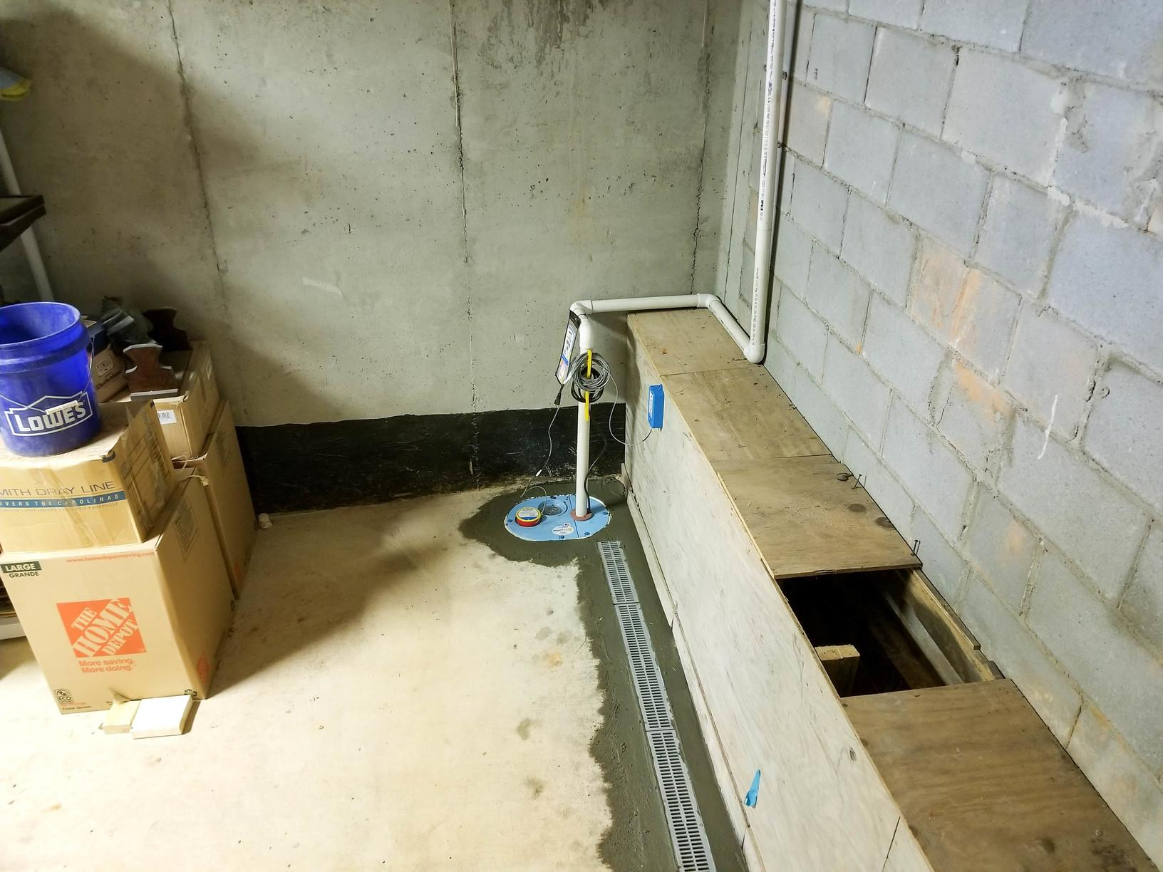 SmartSump Saves Storage Area in Chapin, SC - After Photo