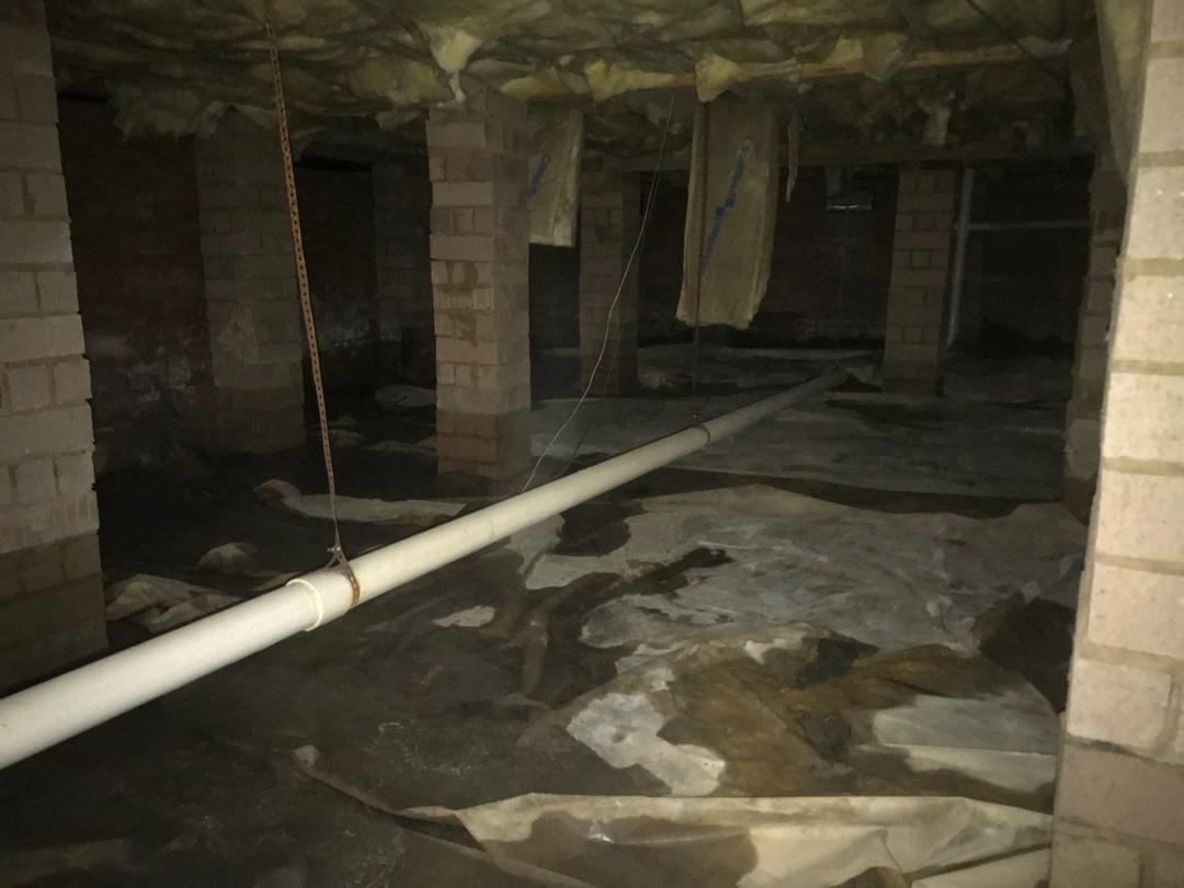 Columbia, SC Crawlspace doesn't have to worry about water any more - Before Photo