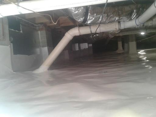 Wet and Moldy Crawlspace Repair - After Photo