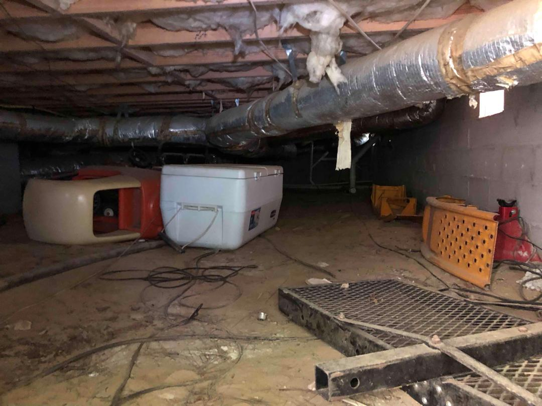 Wet Crawl Space Repaired in Columbia SC - Before Photo