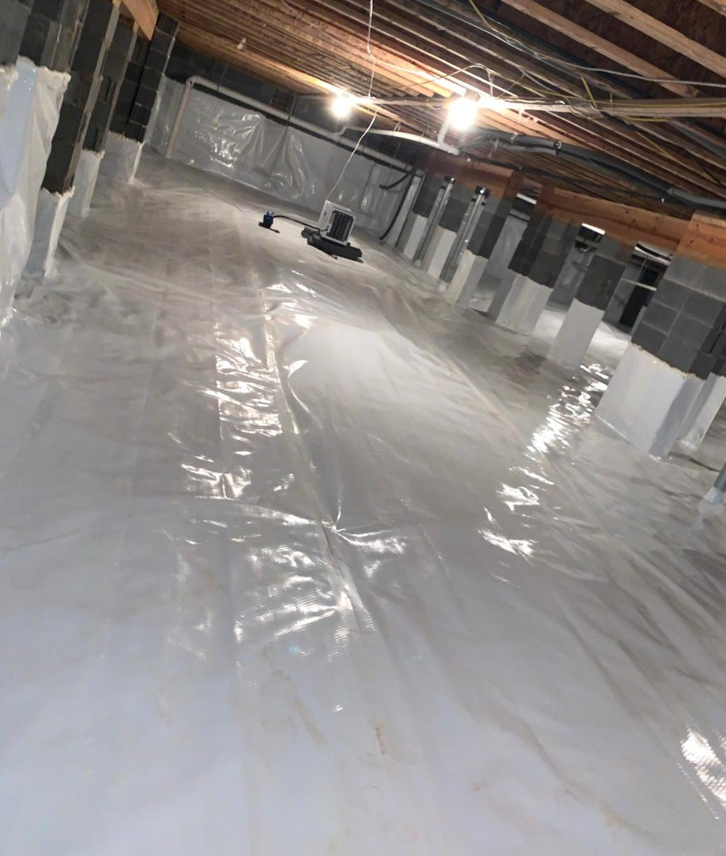 Ridgeway SC Crawl Space Gets Dehumidifier and Drainage System Installed - After Photo