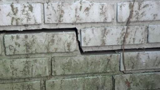 Push Piers Repair Cracks in Charlotte, NC - Before Photo