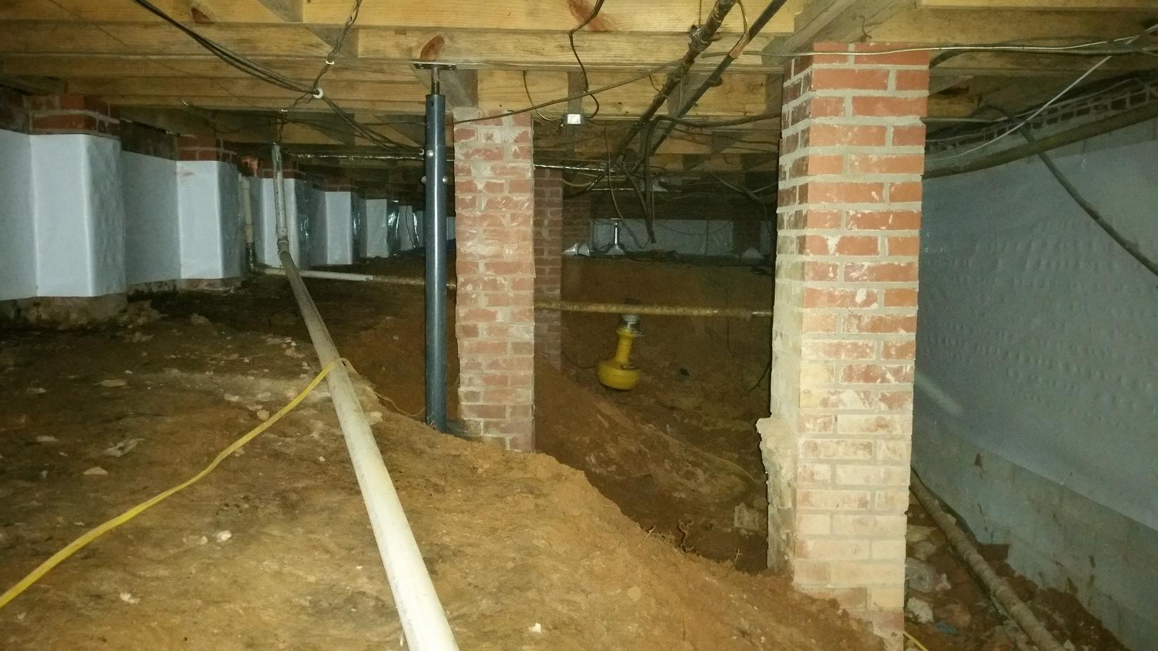 Encapsulation in Boiling Springs, SC Crawl Space - Before Photo