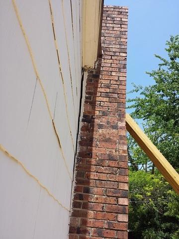 Tilting Chimney Straightened in Camden, SC