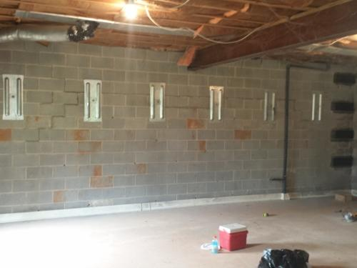 Wall Anchors and CarbonArmor Fix Bowing Wall
