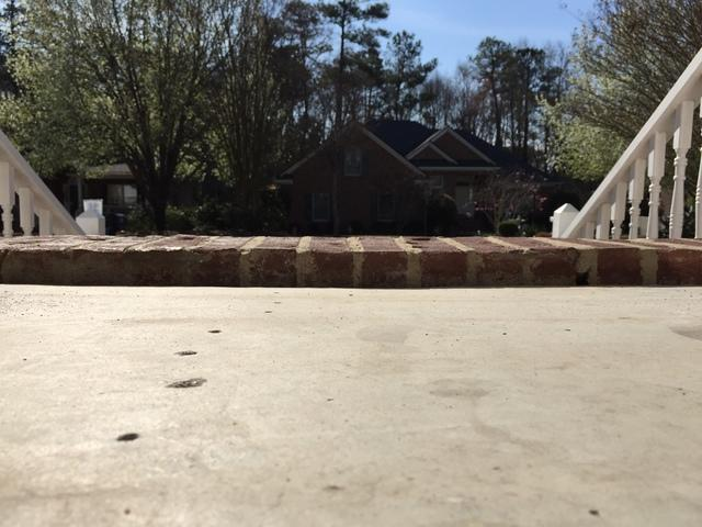 Front Porch Lifted in Marion, SC using PolyLevel Technology