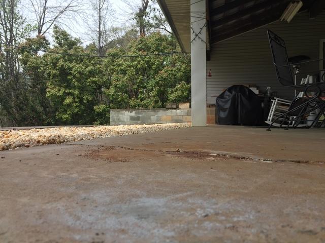 Massive Garage Crack Corrected with PolyLevel in Williamston, SC