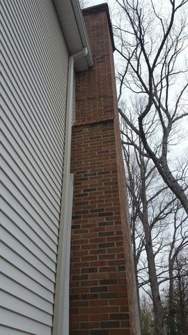 Tiliting Chimney Straightened in Greer, SC