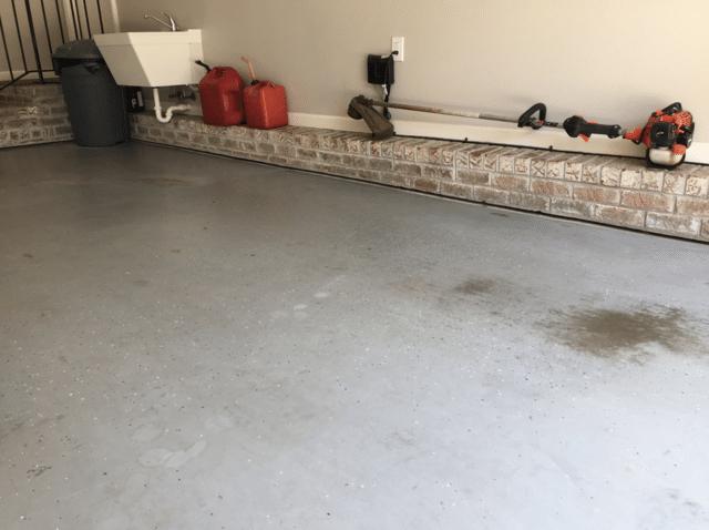 PolyLevel Lifts Garage Floor in Simpsonville, SC