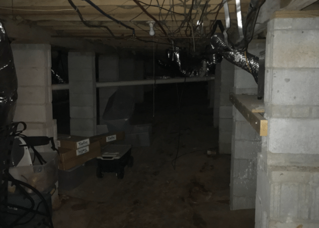 CleanSpace Cleans Up Moldy Crawl Space in Greenville, SC - Before Photo