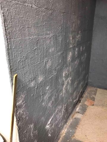 Moldy Basement Restored in Salem, SC - Before Photo