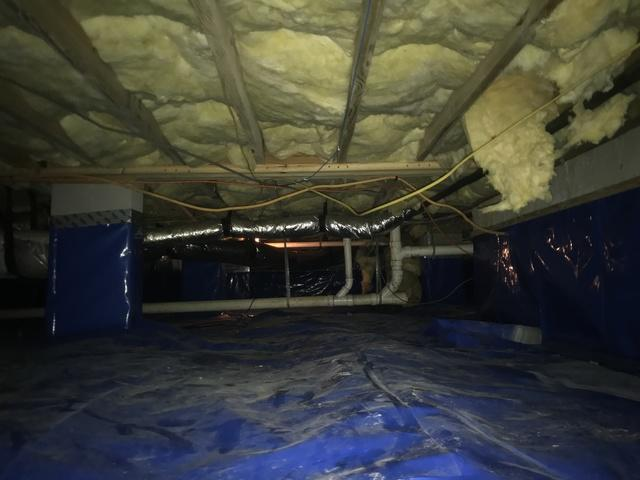 Crawlspace in Myrtle Beach Becomes Moisture Free - Before Photo