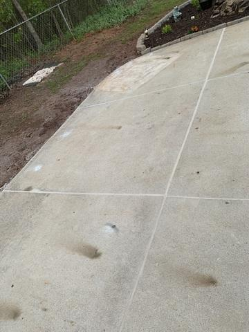 Slanted Concrete Patio Elevated in Newberry, SC