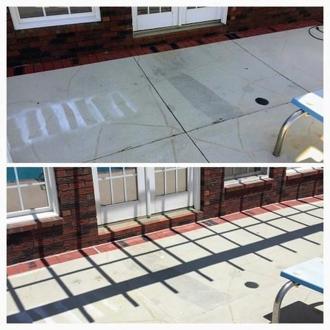 Cracked Concrete Sealed in Chesnee, SC - Before Photo