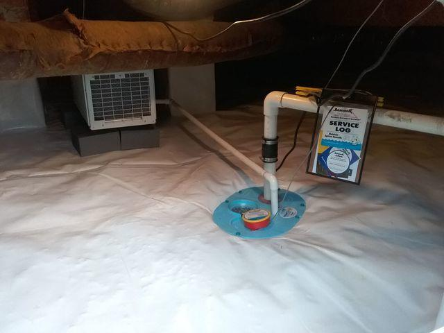 Cleanspace & Dehumidifier Installation in Crawl Space - Eastover SC