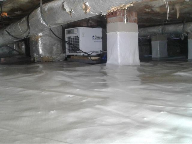 Crawl Space Vapor Barrier in Florence SC - After Photo