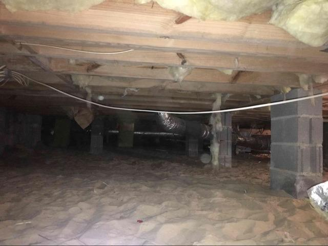 CleanSpace and Drainage System Installed in Crawl Space in Evans, GA