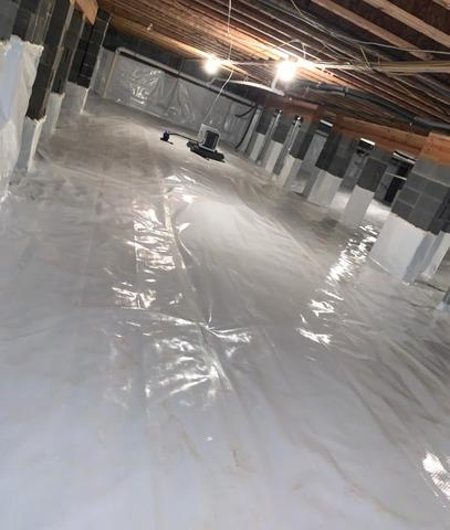 Ridgeway SC Crawl Space Gets Dehumidifier and Drainage System Installed