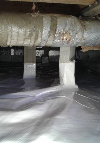 Wet & Mold Ridden Crawl Space Reconstructed with CleanSpace & Dehumidifier System in Silverstreet SC