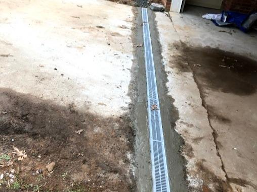 Garage/Driveway Drainage for Standing Water in Easley SC - After Photo