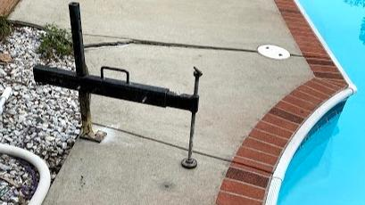 Cracked & Sinking Pool Deck Repaired In Gilbert, SC