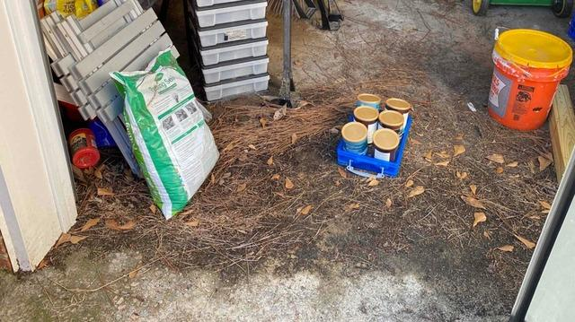 Flooding Garage in Aiken SC Fixed with WaterGaurd Solutions - Before Photo