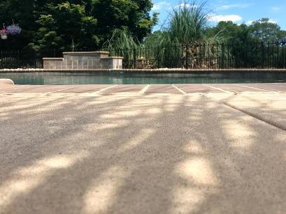 Sinking Pool Deck Repaired in Moore SC - After Photo