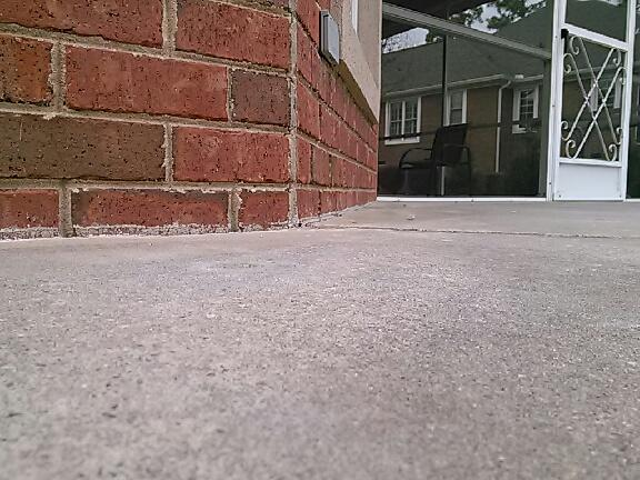 Sinking Side Porch in Greer, SC was Leveled with PolyLEVEL