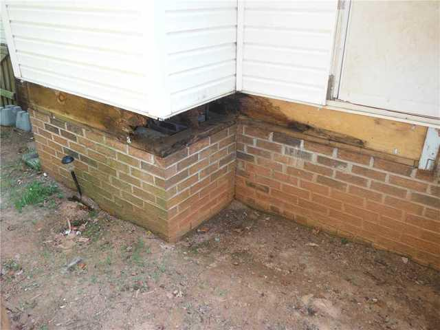 Rotten Rim Joist Causes Problems for Simpsonville, SC Homeowner - Before Photo